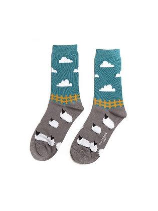 Miss Sparrow Bamboo Socks - Sheep Meadow