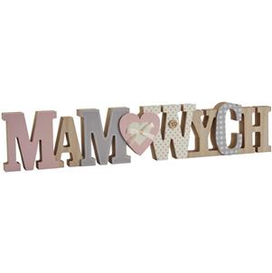 'Mam Wych' Welsh wooden word block