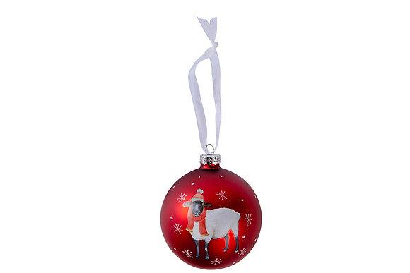 Christmas sheep bauble