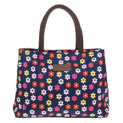 Flowerpower Waterproof Handbag Navy