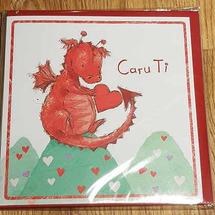Carden Cyfarch Caru Ti -  (Love You ) Greering Card