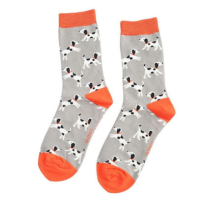 Miss Sparrow Bamboo Little Dalmatians Socks Light Grey