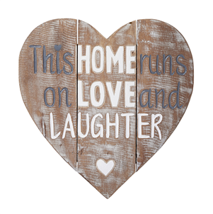 Heart-shaped carved wooden sign - this home ...