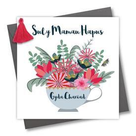 WELSH MOTHER'S DAY CARD- SUL Y MAMAU HAPUS GYDA CHARIAD