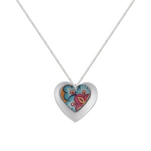 Kate HH Studio Tiger Lily Double Heart Pendant