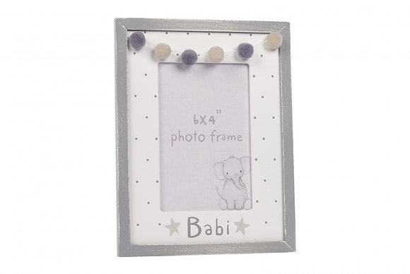 Babi/Baby Welsh Photo frame Grey
