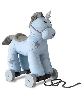 Little Bird Told Me -Moonbeam Unicorn Pull Along Toy