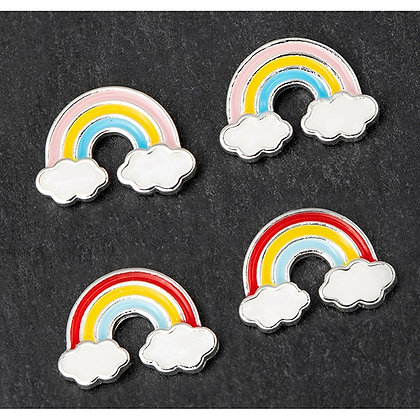 Girls Silver Plated Colourful Rainbow Earrings