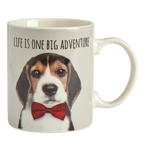 """Life is one big adventure"" Dog mug"