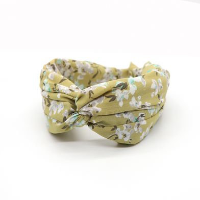 Sage green vintage floral headband