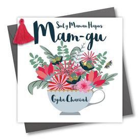 WELSH MOTHER'S DAY CARD GRANDMA - SUL Y MAMAU HAPUS MAMGU GYDA CHARIAD