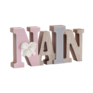 """Nain"" Welsh wooden word block"