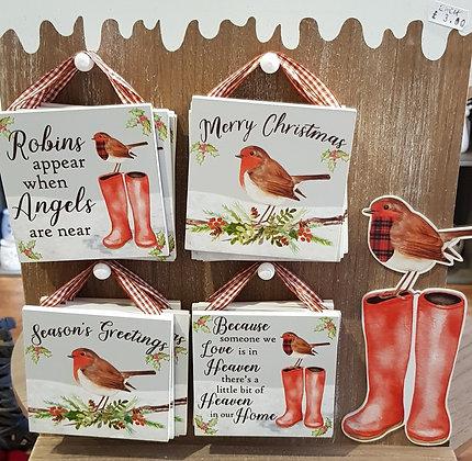 Hanging Robin plaque