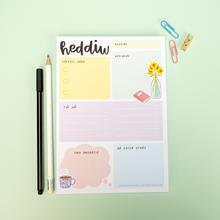 A5 HEDDIW(TODAY) TO DO LIST PAD