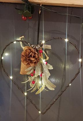 LED metal heart decoration