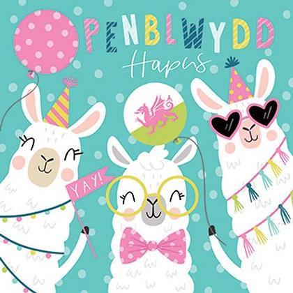 Carden Penblwydd Hapus / Happy Birthday Card -Lama