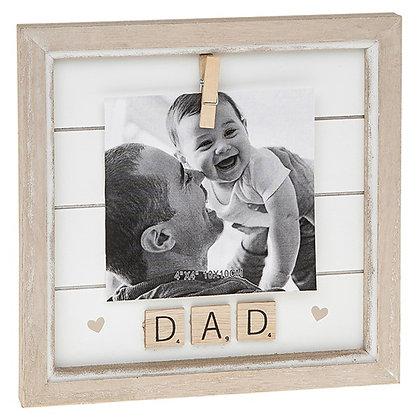Scrabble Peg Frame Dad