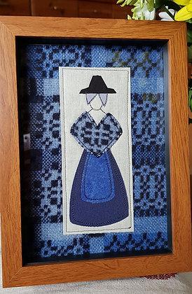 """Chwaethus 8"""" x 6"""" Welsh lady """"Branwen"""" frame - Blue"""