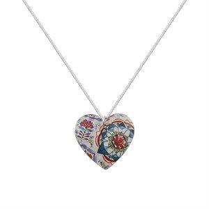 Kate HH Studio Lotus Round Heart Necklace