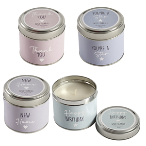 Occasions candle in tin