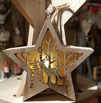 Star LED 24cm hanging decoration