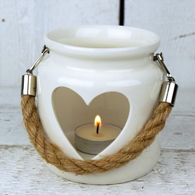White Porcelain Tealight Holder - Small