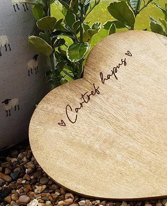 Mango Heart Chopping Board Cartref Hapus (Happy Home)