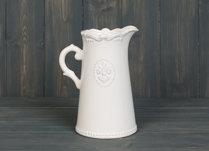 White Ceramic Jug 18cm