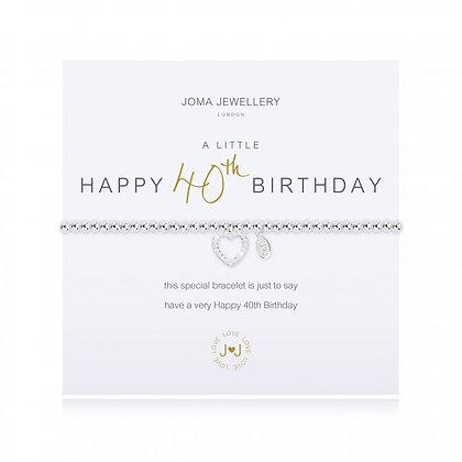 Joma Jewellery A LITTLE HAPPY 40TH BIRTHDAY BRACELET
