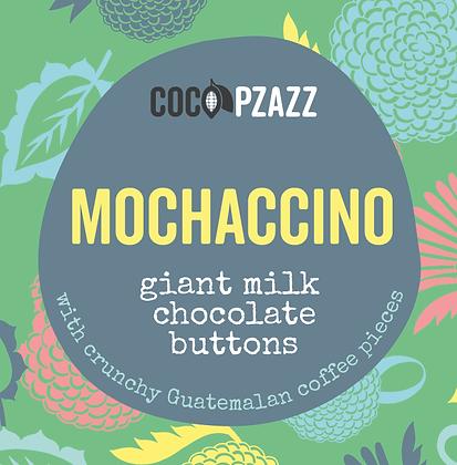 Coco Pzazz -  Giant Milk Chocolate Buttons – Mochaccino 96g