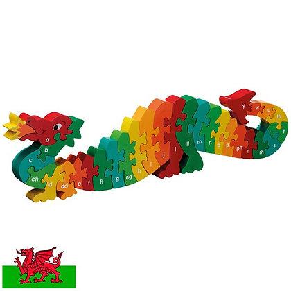 Jigso Alffabet  Dazzle y Ddraig/Dazzle the Dragon  Welsh Alphabet Jigsaw