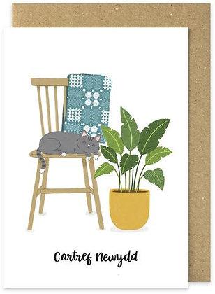 Cartref Newydd/New home card