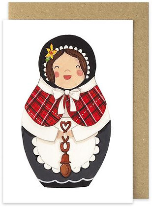Angharad Welsh Lady card