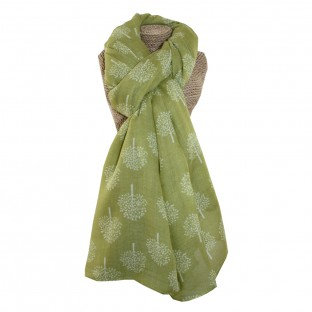 Mulberry Trees Scarf - Citrus/Green
