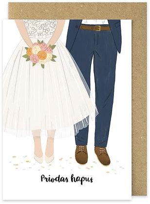 Priodas Hapus/Happy Wedding day card