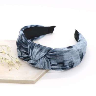 Denim Blue  velvet fabric headband