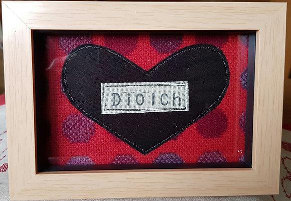 Chwaethus - Melin Tregwynt frame Diolch (Thank you) Red)