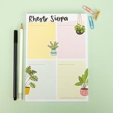 Rhestr Siopa / Shopping List A5 Notepad by Megan Tucker