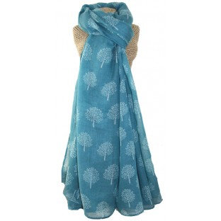 Mulberry Trees Scarf - Turquoise