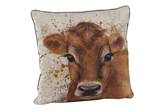 Jersey Cow Splatter Cushion