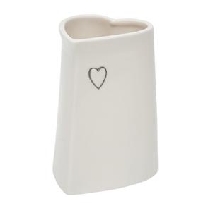 Evie Small ceramic heart vase