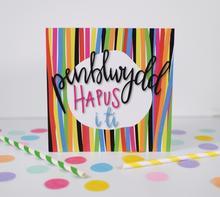 Penblwydd Hapus/Welsh Birthday Card