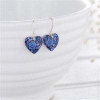 Kate HH Studio Forget-Me-Knot Small Round Heart Earrings