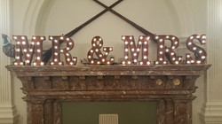 """Mr & Mrs Rustic 13"""" Letters"""