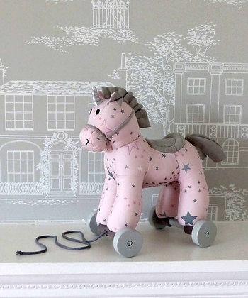 Little Bird Told Me -Celeste Unicorn Pull Along Toy
