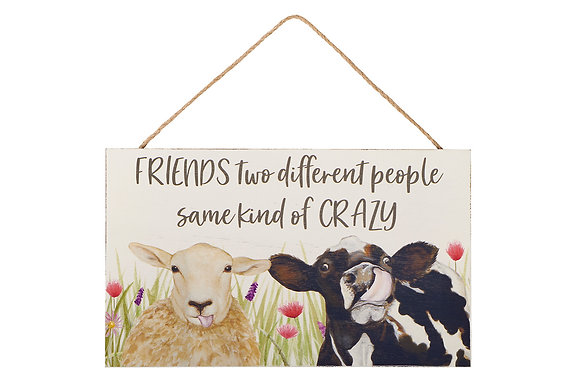 Farm Life FRIENDS hanging plaque