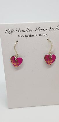 Kate HH Studio Kyoto Garden Pink Small Heart Earrings