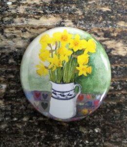 Driftwood Design Daffodil  Badge