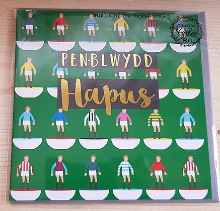 """Carden """"Penblwydd Hapus"""" Card  (Happy Birthday) Football"""