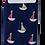 Thumbnail: Mr Heron Little Boats Socks Navy  -  Mens